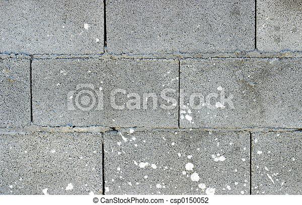 White block wall - csp0150052