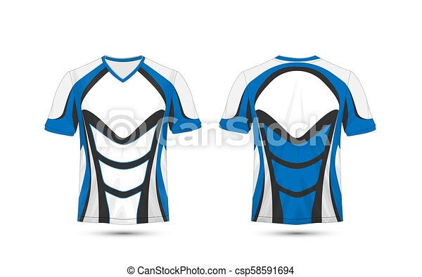 White Blue And Black Layout E Sport T Shirt Design Template