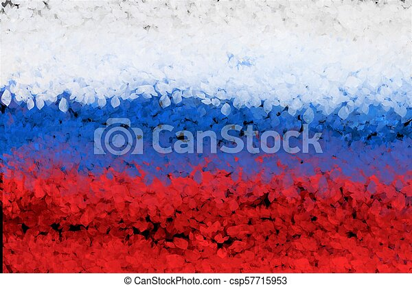 White Blue Red Horizontal Stripes Of Russian Flag Abstract Background