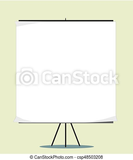 White board with empty space for your message - csp48503208