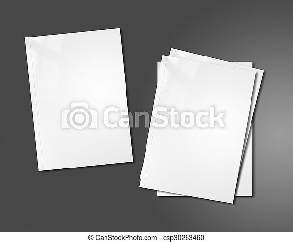 white booklets mockup template - csp30263460