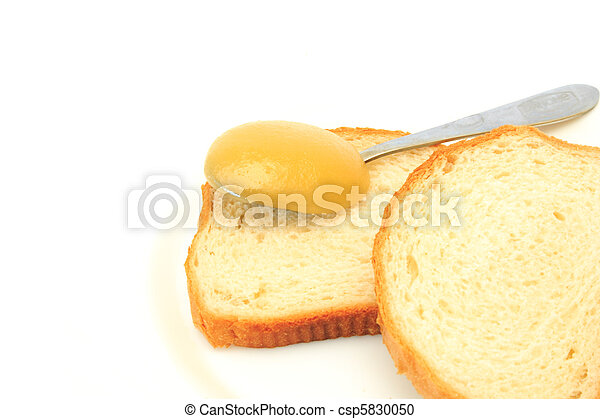 white bread with a honey - csp5830050