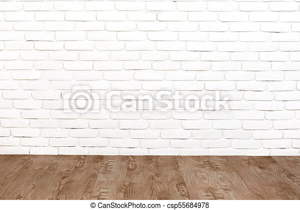 White Brick Wall And Wood Floor White Brick Wall And Wood Floor Background Canstock