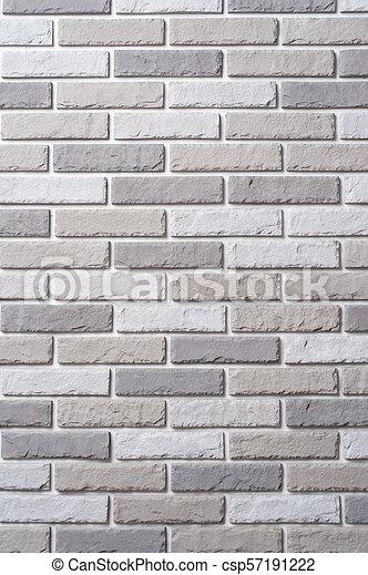 White brick wall. Block background - csp57191222