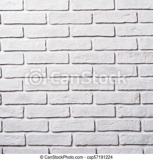 White brick wall. Block background - csp57191224