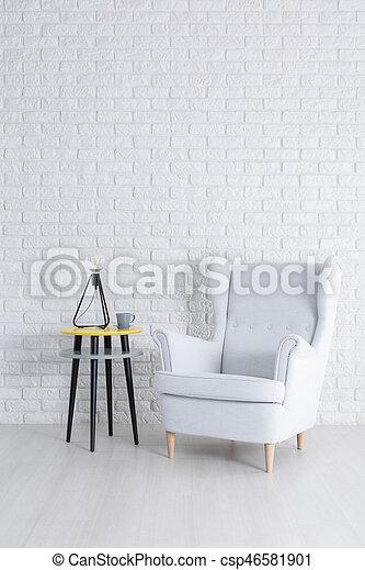 White brick wall - csp46581901