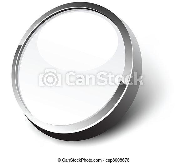 White button. - csp8008678