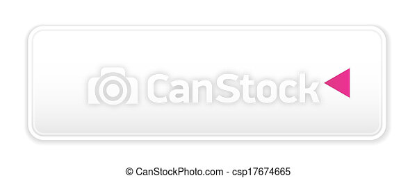 white button with arrow icon - csp17674665