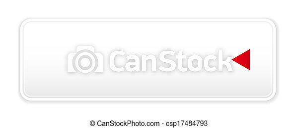 white button with arrow icon - csp17484793