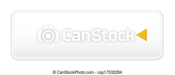 white button with arrow icon - csp17532284