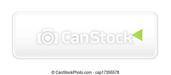 white button with arrow icon - csp17355578