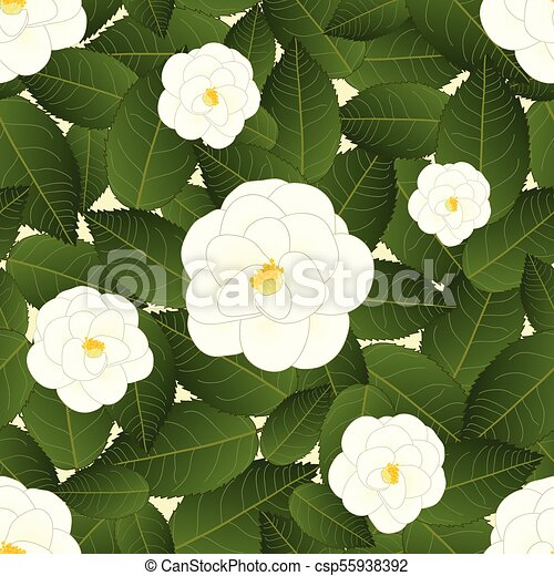 White camellia flower on ivory beige background vector eps white camellia flower on ivory beige background csp55938392 mightylinksfo