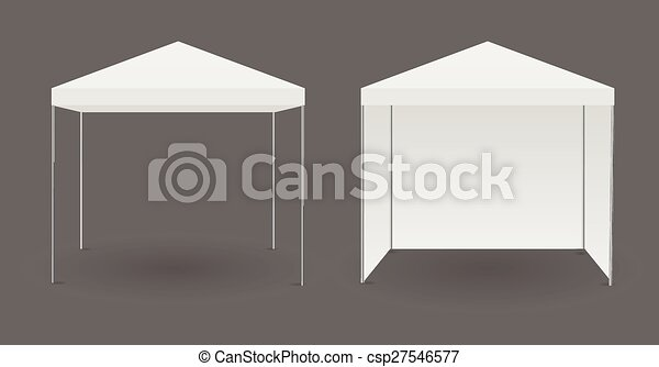White canopy or tent - csp27546577