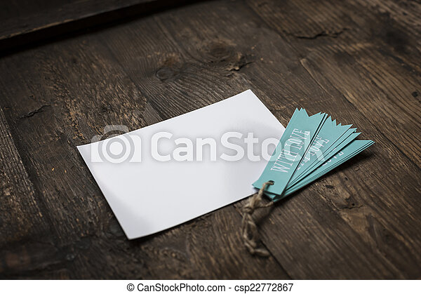 white card with blue tag love - csp22772867
