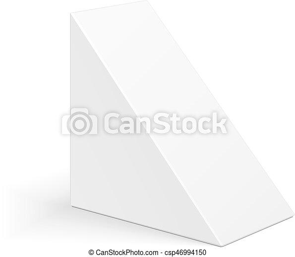 White cardboard triangle box packaging for sandwich food gift or white cardboard triangle box packaging for sandwich food gift or other products illustration maxwellsz
