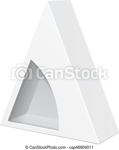 White cardboard triangle box packaging for food gift or for Triangle packaging template