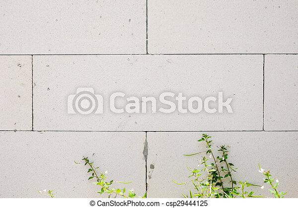 white cement block - csp29444125