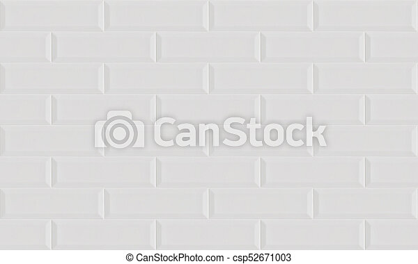White Ceramic Brick Tile Wall Background Seamless Pattern