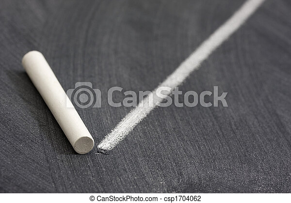 white chalk and line on blackboard - csp1704062