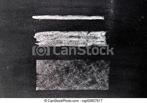 White chalk hand drawing in square or line shape on blackboard background - csp55807617