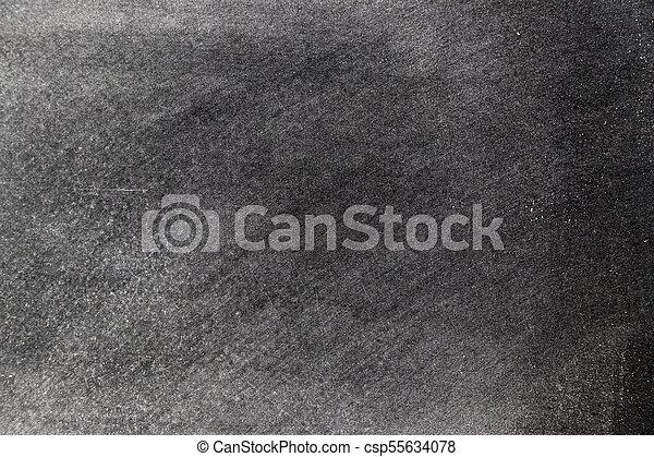 White chalk texture splash on blackboard background - csp55634078