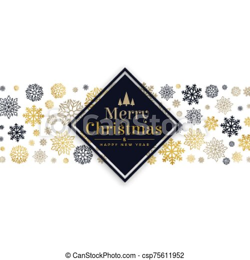 white christmas background with snowflakes pattern design - csp75611952
