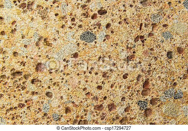 White Cinder Block Brick Wall - csp17294727