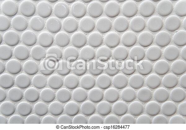White circle tile pattern - csp16284477