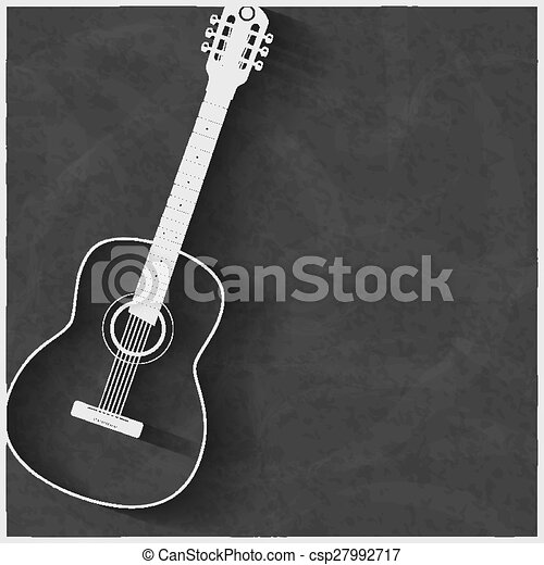 White Classic Guitar On The Wall A White Color Acoustic Guitar On A