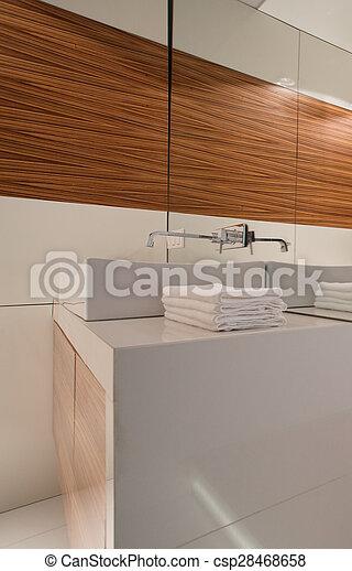 White clean bathroom - csp28468658