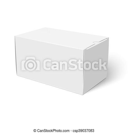 White Closed Cardbox Box Template