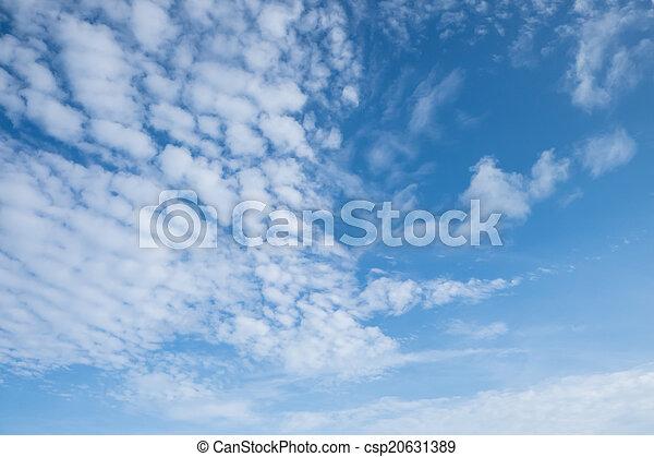 White cloud against blue sky - csp20631389