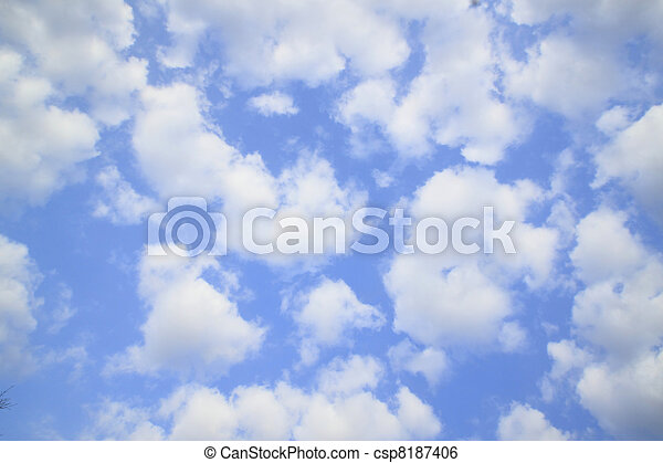 white cloud against blue sky - csp8187406