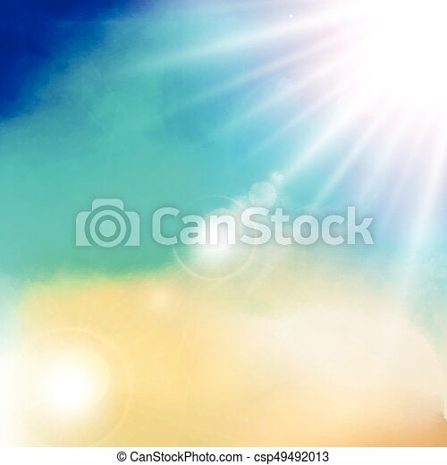 white cloud detail in blue sky with sunshine daylight vector