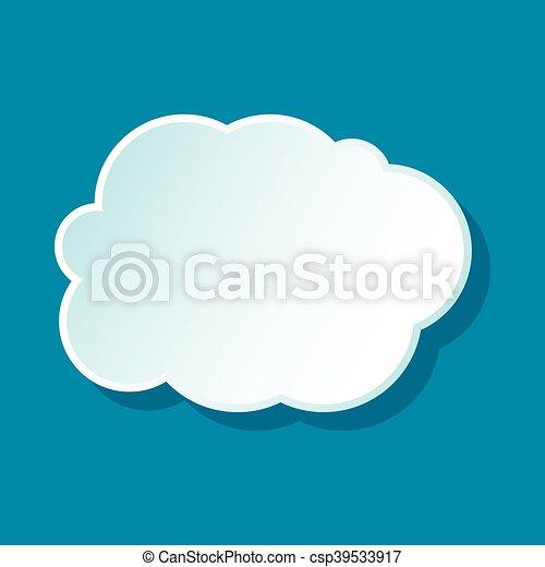 White cloud icon - csp39533917