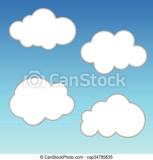 White Cloud on Blue Sky - csp34785635