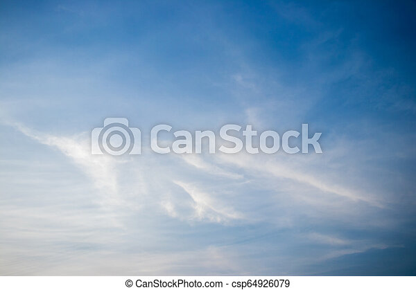 White cloud with blue sky background, have the copy space - csp64926079