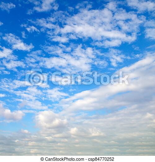 white cloud with blue sky background - csp84770252