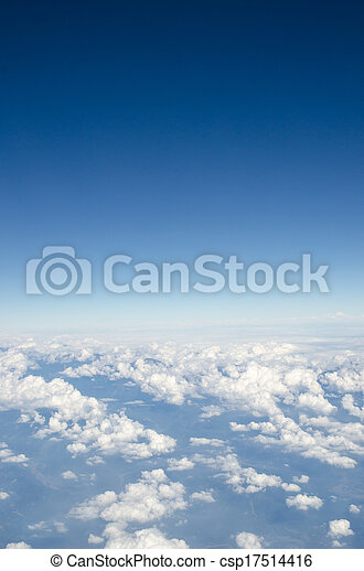 White cloud with blue sky - csp17514416