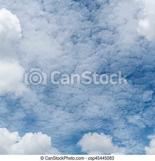 White cloud with Blue sky - csp45445083