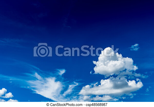 White cloud with Blue sky - csp48568987
