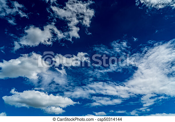 White cloud with Blue sky - csp50314144