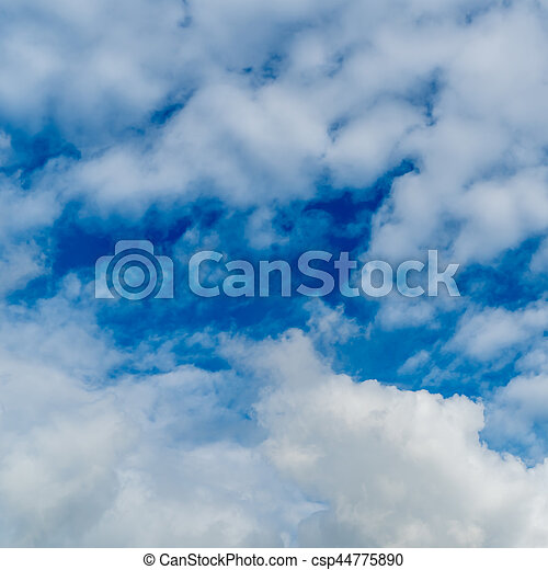 White cloud with Blue sky - csp44775890
