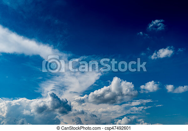White cloud with Blue sky - csp47492601