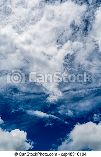 White cloud with Blue sky - csp48316104
