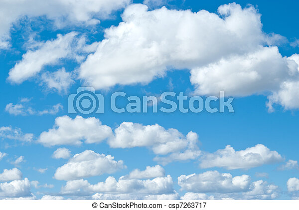 white clouds on blue sky - csp7263717