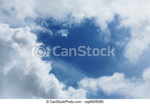 White clouds over blue sky - csp6508385