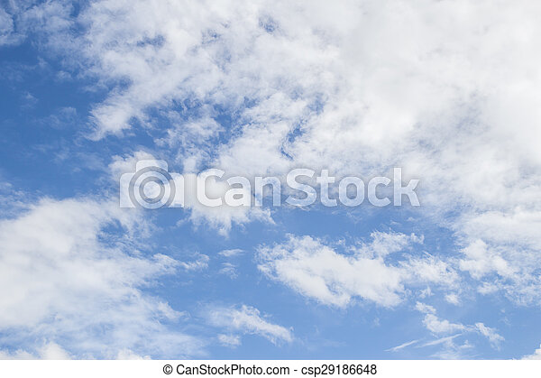White clouds with blue sky background - csp29186648