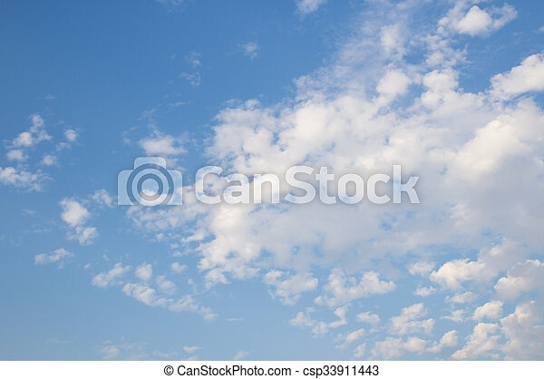 White clouds with blue sky background - csp33911443