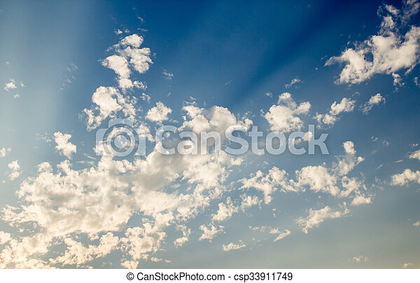 White clouds with blue sky background - csp33911749